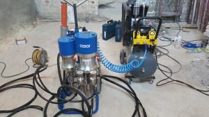 OBR 1 injektážní pumpa Desoi a kompresor